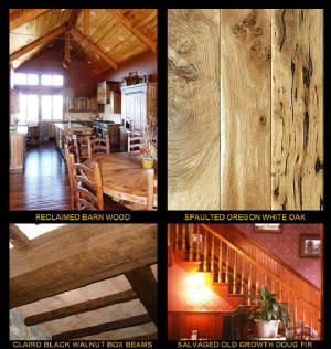 Specializing in Reclaimed Old Growth Douglas fir, Salvaged Spaulted Oregon White Oak, Flooring, Box Beams and Wall Paneling...