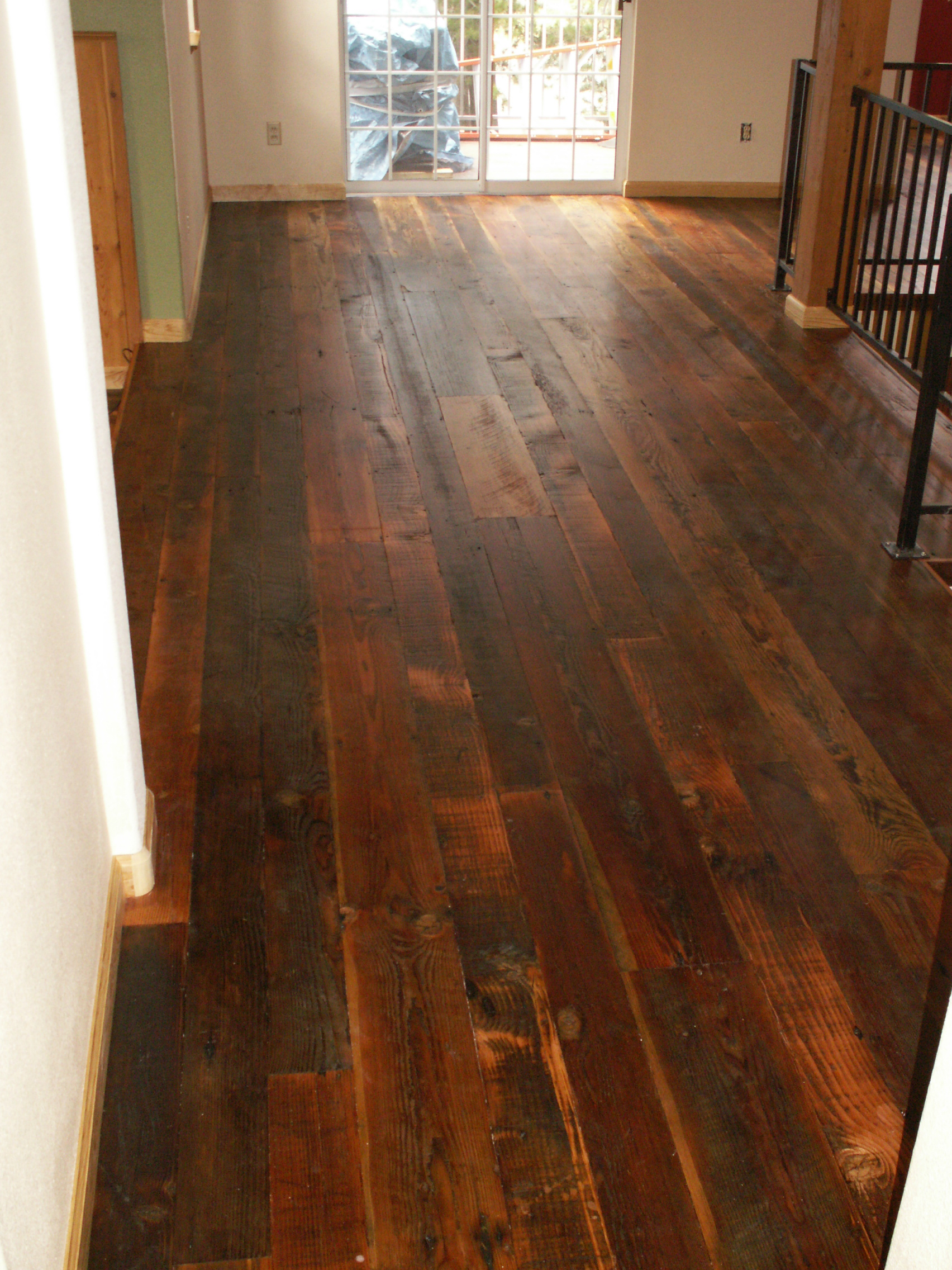 Reclaimed antique wide plank hardwood flooring for Recycled hardwood