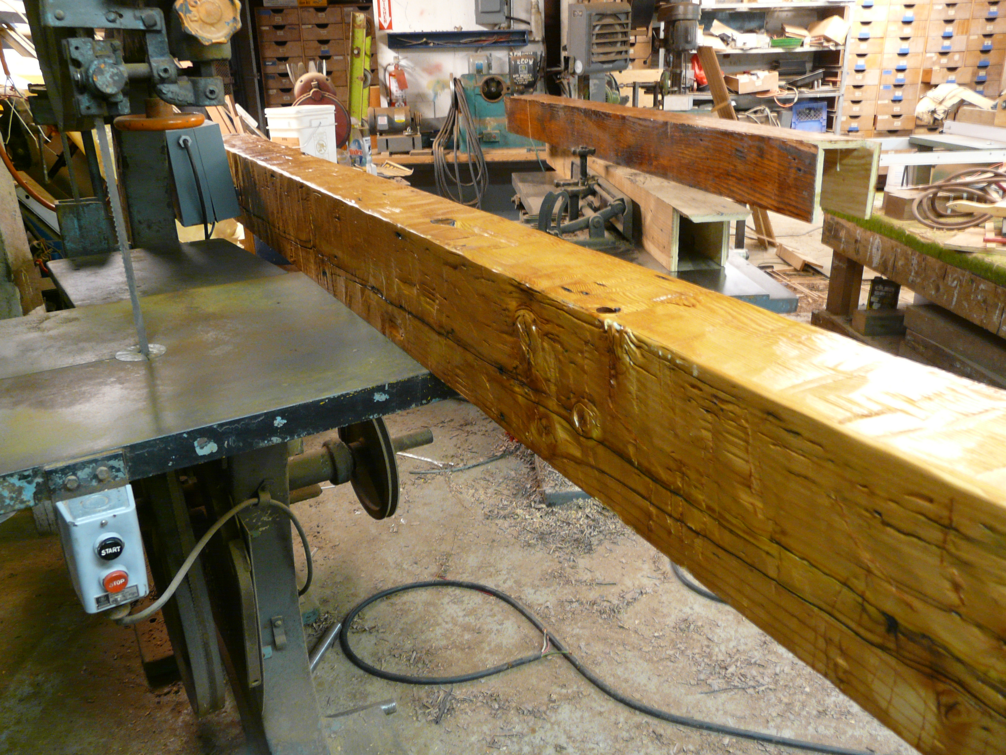 Custom made box beams to complement your wood flooring for Wood box beam